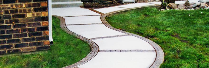 stamped walkway